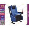 China Blue Fabric Folding VIP Cinema Seating , Plastic Theater Seats wholesale