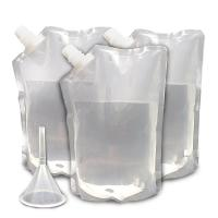 China Transparent Durable Concealable Plastic Rum Runner Flask For Energy Drink wholesale