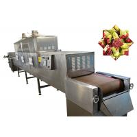 China 120KW PLC Cabinet Conveyor Belt Tea Microwave Drying Equipment For Food Industry wholesale