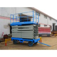 China Double mast Mobile Scissor Lift Platform / telescopic aerial working platform on sale