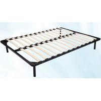 China 1.5m * 1.8m Metal Frame Bed With Durable Wood Slat Stable Structure wholesale
