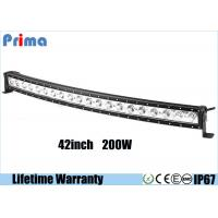 China Single Row 200W 42 Inch Cree Curved LED Light Bar For Jeep Off Road Vehicles wholesale
