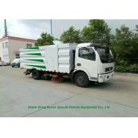 China DFAC 5000L Dustbin Road Sweeper Truck for Street Cleaning With 2cbm Washing Water on sale