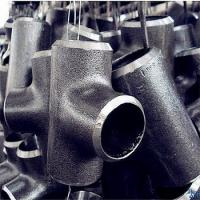 China Hydraulic Equal and Unequal carbon steel cold forming tee Seamless pipe fitting wholesale