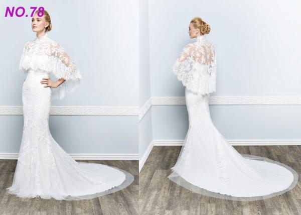 Quality BOHO Jecket Princess Bridal Gowns / Strapless Plus Size Princess Wedding Dresses for sale