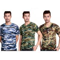 China Professional Short Sleeve Camouflage T Shirt Printing For Man on sale