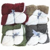 Buy cheap 2-tone Peach Skin Blanket with Sherpa Back from wholesalers