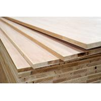 China E0 Grade Laminated Wood Blocks , Decorative Hot Press Hardwood Block Board wholesale