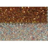 China Wall Paters And Crafts 3D Glitter Fabric 54/55'' Width And Knitted Backing Technics wholesale