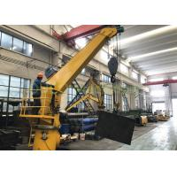 China Steel Structures Stiff Boom Marine Crane High Durability Overload Protection on sale