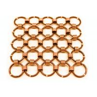 China Metal Mesh Drapery / Brass Wire Ring Mesh Curtain Conect With 8mm Circle Dia wholesale