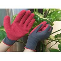 China Flexible Warm Winter Work Gloves Acrylic Terry Liner Green Foam Latex Coated wholesale