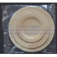 China Bamboo Veneer disposable and biodegradable plates for party, wedding and any occasion wholesale