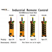 China Single / Double Speed Wireless Hoist Remote Control Wireless Industrial Remote Controller F24+ Series wholesale