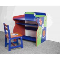 China Wooden Sports Themed Drawing - Study Desk Chair Set For Toddler wholesale