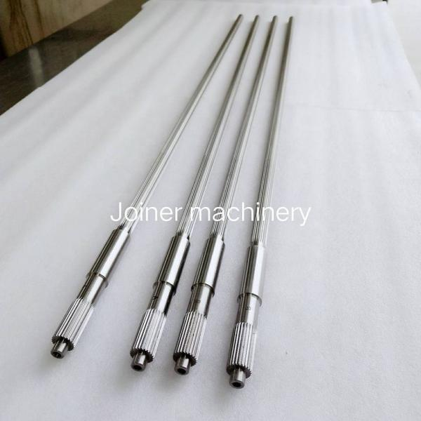 Quality Twin Screw Shaft Plastic Extruder Screw Design Extruder Screw Parts WR15E Material for sale