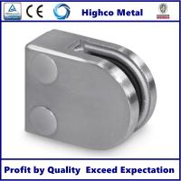 China Stainless Steel D Shape Flat Glass Clamp 40x50mm Fit 8-10mm Glass for Glass Railing and Balustrade on sale