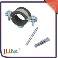 China Suspension Cast Iron Pipe Support Clamps With Electro Zinc Coated Surface wholesale