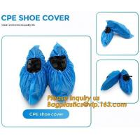 China PE material blue shoe cover cheaper disposable plastic shoe cover,Low Price plastic shoe cover medical,bagease bagplasti wholesale