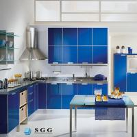 China Excellence quality blue tempered painted glass on sale