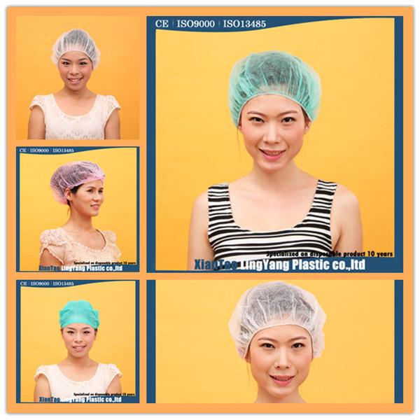Colorful Nonwoven Disposable Hairnet Surgical Clip Cap