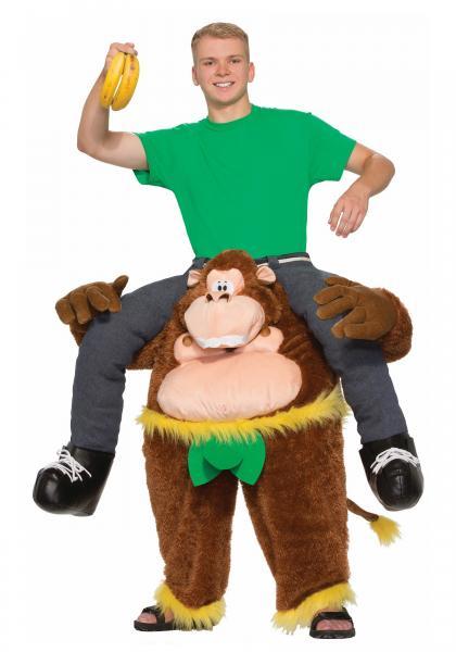 Quality Trajes animales de la mascota del montar a caballo del verde amarillo de Brown Monkeying alrededor el traje for sale