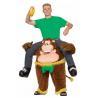 China Trajes animales de la mascota del montar a caballo del verde amarillo de Brown Monkeying alrededor el traje wholesale