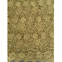 China Yellow Chemical Lace Fabric Indian Cotton , fashion Soft Lace on sale