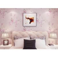 China Romantic Light Living Room Wallpaper Soundproof For Home Decoration , SGS Compliant wholesale