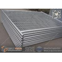 China 42microns hot dipped galvanized Temporary Site Fence Panels, 2100mm high, 32mm O.D pipe, 60X150mm mesh aperture wholesale