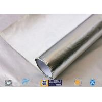 China Waterproof 880g Light Reflect Silver Coated Fabric High Temperature Adhesive wholesale