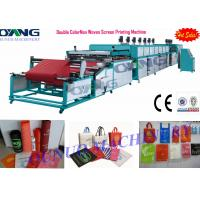 China Automatic roll to roll Non Woven Screen Printing Machine drying - collecting wholesale
