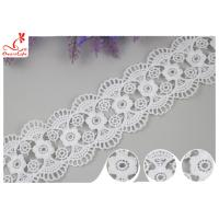 China Decorative Knitted Water Soluble Cotton Lace Trim For Wedding Dresses wholesale
