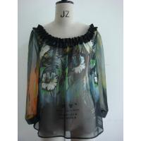 China Ladies Positional Printed Blouse (VMD200906264) wholesale