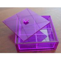 China Colored Acrylic Food Containers Bin with Removable Cover on sale