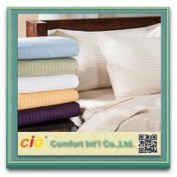 China Polyester / Cotton Hotel Bed Sheet Sets Home Textile Microfiber Printing on sale