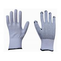 China High Performance Cotton Work Gloves With Rubber Gripper Dots CE Approved on sale