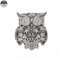 China Practical Embroidered Owl Patch , Fashionable Uniform Owl Sew On Patch wholesale