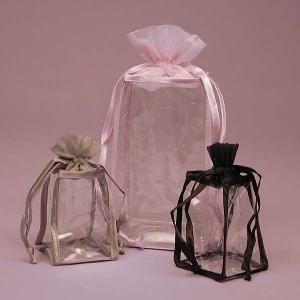 China Personalised Organza PVC Drawstring Bag , Clear PVC Cosmetic Bag wholesale