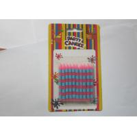 Delicate Stick Shaped Stripe Printed Personalized Birthday Candles For Birthday Cake