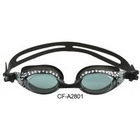 China Mirror Coating Lens Professional Swimming Goggles , Silicone Swim Glasses With Ce Certificate wholesale