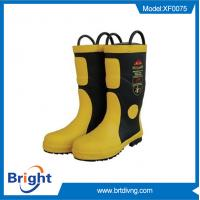 China Steel toe rubber firefighting boots wholesale