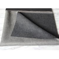 China Over Twill Double Faced Wool Coating Fabric 57 / 58 Width Light+Medium Gray on sale