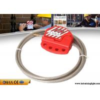 China Cable Safety Lock Out 1.8M Adjustable Length Stainless Steel Material wholesale