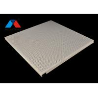 China Hook on Punching Aluminum Ceiling Panel System Anti Wind Perforated Ceiling Board on sale