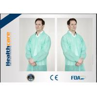 China Dustproof PP Colored Disposable Scrubs And Lab Coats With Hook Loop Closure wholesale