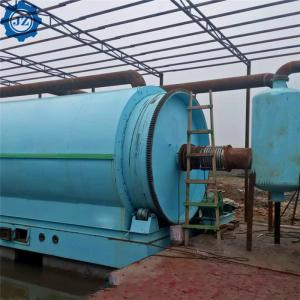 China 10ton 12ton Environmental Used Waste Tire Pyrolysis Recycling Plant For Fuel Oil wholesale