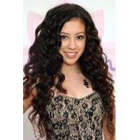 Fascinating Sexy Long Big Curly Dark Brown 100% Human Hair Lace Wig 24 Inches