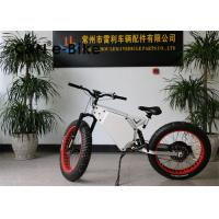 China High Speed Electric Mountain Bikes With Fat Tires , Fat Tire Electric Beach Cruiser wholesale