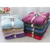 China OEM/ODM Logo Luxury Flannel Polyester Fleece Blanket All Season Luxurious Gift Packing Soft on sale